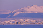 Sunset In Norway Photo Prints - Midnight Sunlight On Polar Mountains Print by Gordon Wiltsie