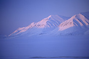 Sunset In Norway Photo Prints - Midnight Sunset On Polar Mountains Print by Gordon Wiltsie