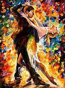 Afremov Painting Metal Prints - Midnight Tango Metal Print by Leonid Afremov