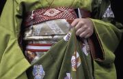Kimonos Photos - Midsection Of Apprentice Geisha - Maiko by Axiom Photographic