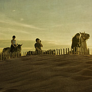 Gloaming Prints - Midsummer Evening Horse Ride Print by Paul Grand