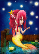 Little Mermaid Digital Art - Midsummer Night by Jessica Grundy