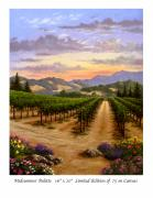 Napa Valley Vineyard Paintings - Midsummer Pallette by Patrick ORourke
