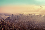 Cities Art - Midtown Manhattan At Dusk by Matthias Haker Photography