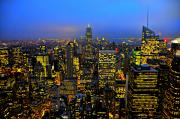 Cityscapes Prints - Midtown Manhattan at Dusk Print by Randy Aveille