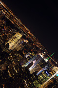 Midtown Photo Prints - Midtown Vertical Skyline Print by Mike Lindwasser Photography