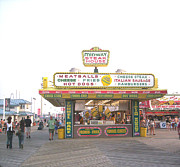 Casino Pier Posters - Midway Steak House - the Boardwalk at Seaside Poster by Bob Palmisano