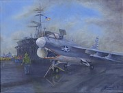 Carrier Painting Originals - Midway - there by Pib