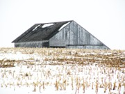 Barns Photos - Midwest Barn in Winter by Christine Belt