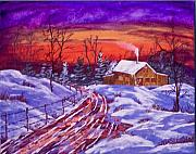 Ringo Painting Originals - Midwest Winter by J Ringo