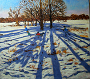 Sledding Framed Prints - Midwinter Framed Print by Andrew Macara