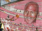 Michael Jordan Painting Originals - Miechael by David Hipwell