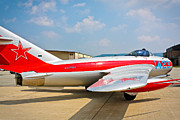 Jet Star Photo Metal Prints - MiG-17F Fresco C 17QS Metal Print by John Waclo