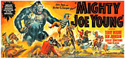 1940s Poster Art Framed Prints - Mighty Joe Young, Banner Poster Art Framed Print by Everett