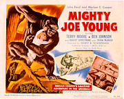 Lobbycard Framed Prints - Mighty Joe Young, Terry Moore, 1949 Framed Print by Everett