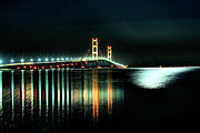 Matthew Winn Art - Mighty Mac at Night by Matthew Winn
