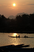Long Tail Prints - Mighty Mekong Print by Bob Christopher