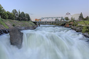 Spokane Framed Prints - Mighty River Framed Print by John Cristian Esquivel