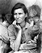 Qed Framed Prints - Migrant Mother, 1936 Framed Print by Granger