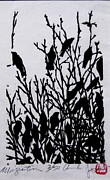 Starlings Painting Framed Prints - Migration Framed Print by Andrew Jagniecki