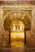 Great Mosque Posters - Mihrab in the Great Mosque of Cordoba Poster by Artur Bogacki