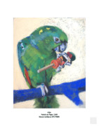 Parrot Pastels Prints - Mijo Print by Nance Mc Manus