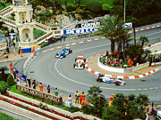 Monaco Art - Mika Hakkenin at Monaco GP by John Bowers