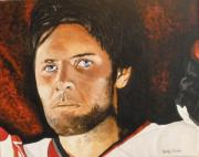 Hockey Paintings - Mike Fisher by Betty-Anne McDonald