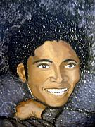 Keenya Woods Mixed Media Originals - Mike- king of pop by Keenya  Woods