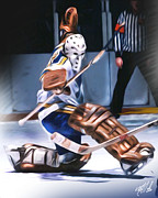 Goalie Mask Framed Prints - Mike Luit Framed Print by Mike Oulton