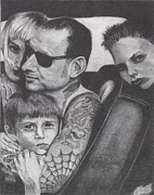 Distortion Drawings Prints - Mike Ness Print by Jeff Ridlen