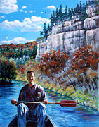 Mike On Float Trip Print by John Lautermilch
