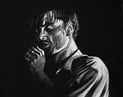 Singer Drawings - Mike Patton by Steve Hunter