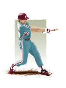 All Star Digital Art Posters - Mike Schmidt Poster by Scott Weigner