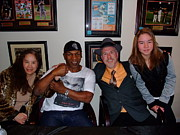 Tattoo Art - Mike Tyson  Elvie  Vanessa and myself at ManCave Memorabilia  by Jim Fitzpatrick