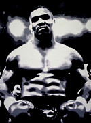 Knockout Framed Prints - Mike Tyson Framed Print by Luis Ludzska