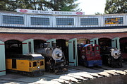 Train Stations Photos - Mike Watson St. Turnhouse - Traintown Sonoma California - 5D19249 by Wingsdomain Art and Photography