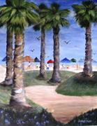 Sea Birds Paintings - Mikes Hermosa Beach by Jamie Frier