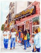 Shops Drawings Prints - Mikes Pastry Print by Dave Olsen