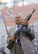 Technological Framed Prints - Mikhail Kalashnikov, Russian Gun Designer Framed Print by Ria Novosti