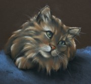 Felines Tapestries Textiles - Miko by Cynthia House