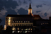 Mikulov Castle At Night Print by Michal Boubin