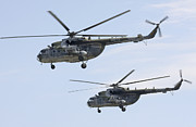 Hradec Prints - Mil Mi-17 Helicopters Of The Czech Air Print by Timm Ziegenthaler