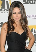 Beverly Hilton Hotel Posters - Mila Kunis At Arrivals For 14th Annual Poster by Everett