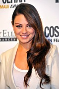2010s Hairstyles Framed Prints - Mila Kunis At Arrivals For Cosmopolitan Framed Print by Everett