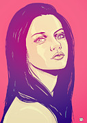 Pop Drawings Framed Prints - Mila Kunis Framed Print by Giuseppe Cristiano