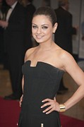 Cuff Posters - Mila Kunis In Attendance For 2011 White Poster by Everett
