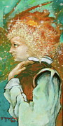 Contemporary Symbolist Painting Prints - Milagro Angel Print by Sue  Hoya Sellars