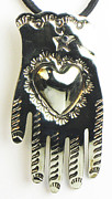 Spiritual Jewelry - Milagro Heart-in-Hand Silver Necklace by Esprit Mystique