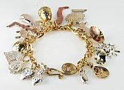 Forged Jewelry - Milagro Rock Crystal Point Charm Bracelet by Virginia Vivier